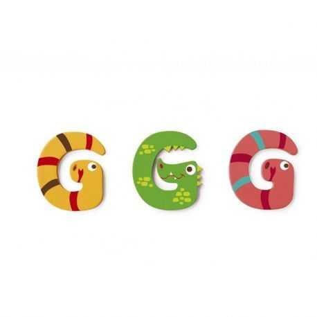 Wooden letter G for child