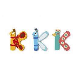 Lettre K en bois pour enfant