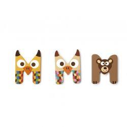 Wooden letter M for child