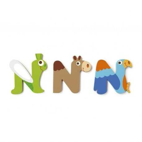 Wooden letter N for child