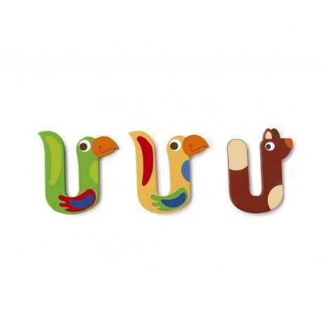 Wooden letter U for child