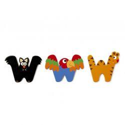 Lettre W en bois pour enfant