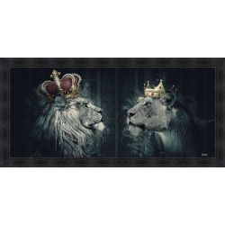 Lions crowned painting by Sylvain Binet
