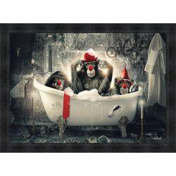 Clown monkeys painting by Sylvain Binet