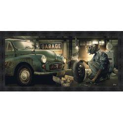 Garage Vintage Painting by Sylvain Binet