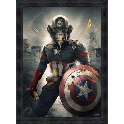 Captain América painting by Sylvain Binet