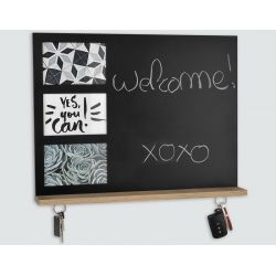Customizable magnetic memo slate with 3 10x15 photos