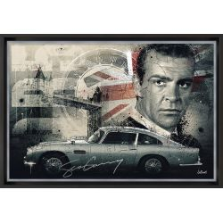 Sean Connery painting by Sylvain Binet