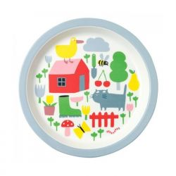 Baby plate, countryside decor