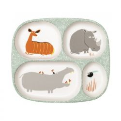 Baby tray with 4 compartments, Savannah decor