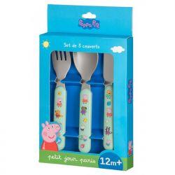 Children's cutlery decor Peppa pig