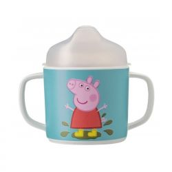 Mug with two non-slip handles with removable spout
