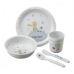 The little prince and the rose tableware gift set, 5 pieces
