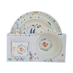 Gabin the rabbit children's tableware set