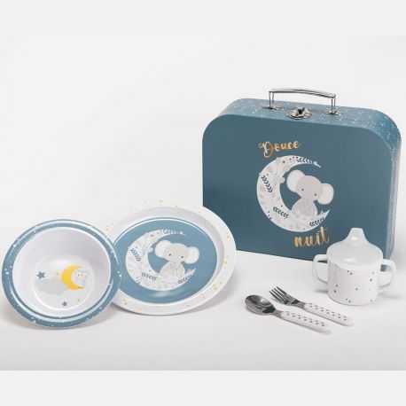Children's meal set: elephant moon decor