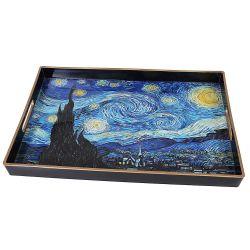 Plateau rectangulaire, la nuit étoilée de Vincent Van Gogh