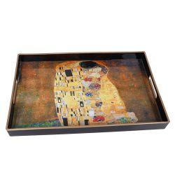Rectangular tray, the kiss by G. Klimt
